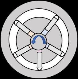 Radialkolbenpumpe Symbolzeichnung